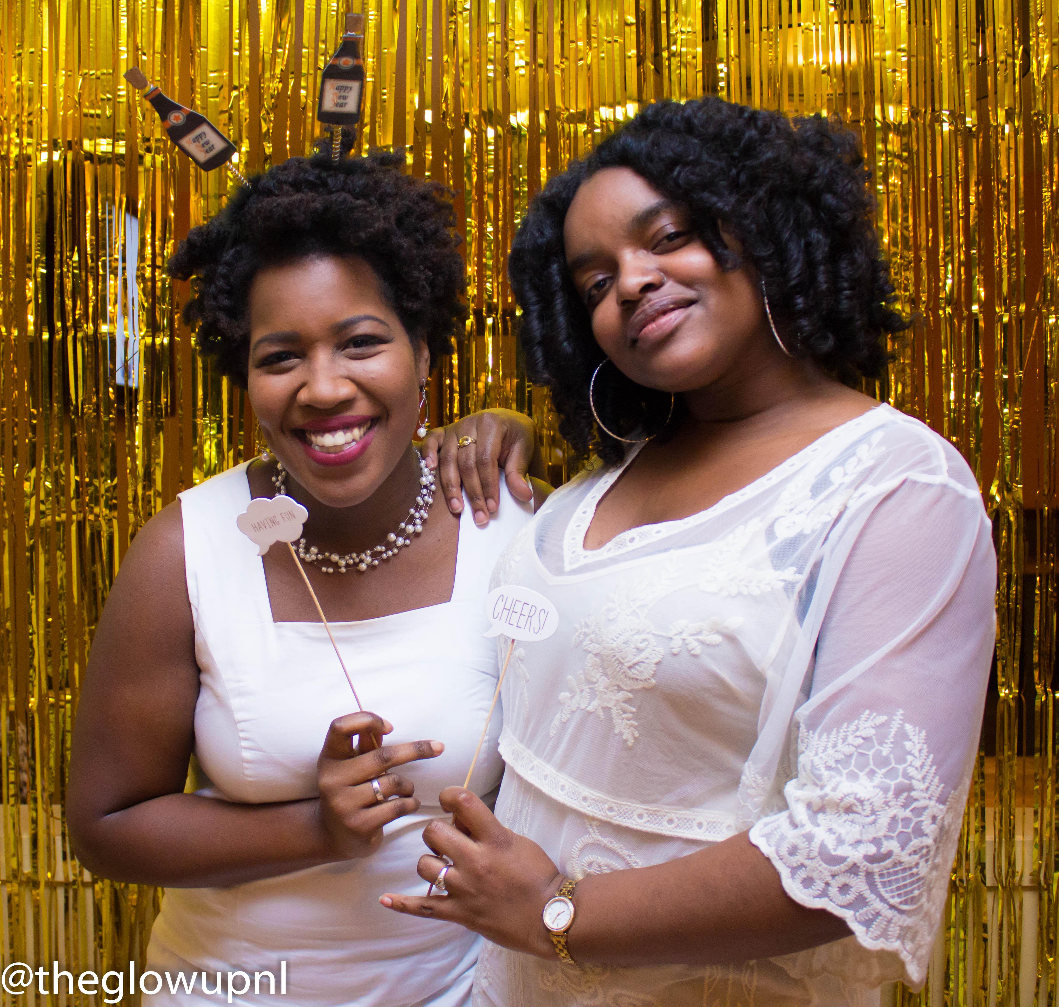 Charlene en Rowan tijdens The Glow Up presents A Champagne Celebration. Foto: Snaps by Nova